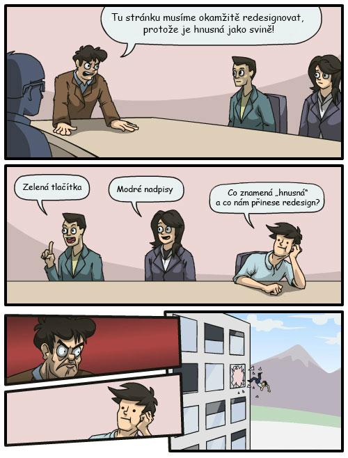 Komiks o redesignu webu